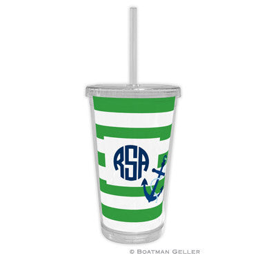 Stripe Anchor Beverage Tumbler