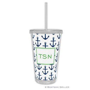 Anchors Navy Beverage Tumbler