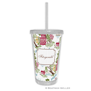 Chinoiserie Autumn Beverage Tumbler