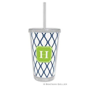 Bamboo w/ White Background Beverage Tumbler