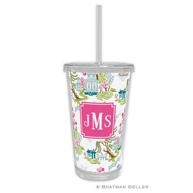 Chinoiserie Spring Beverage Tumbler