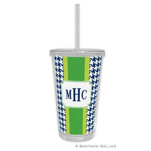Alex Houndstooth Beverage Tumbler