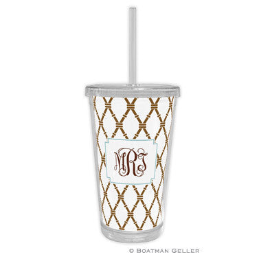 Bamboo Brown & Slate Beverage Tumbler