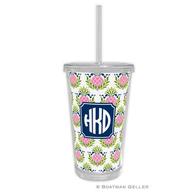 Pineapple Repeat Pink Beverage Tumbler