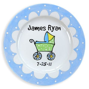 Personalized Baby Carriage Plate (Boy)