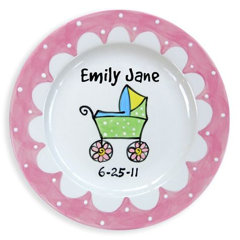 Personalized Baby Carriage Plate (Girl)
