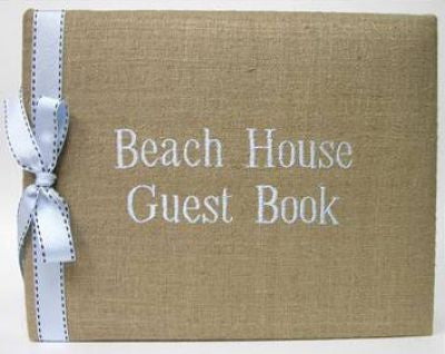 Linen Beach House Guest Book