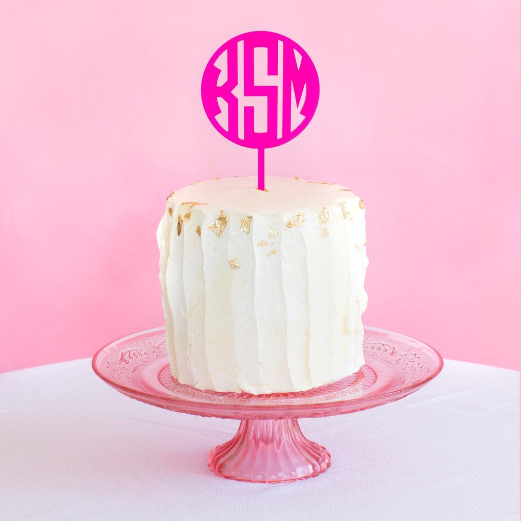 Block Monogram Cake Topper