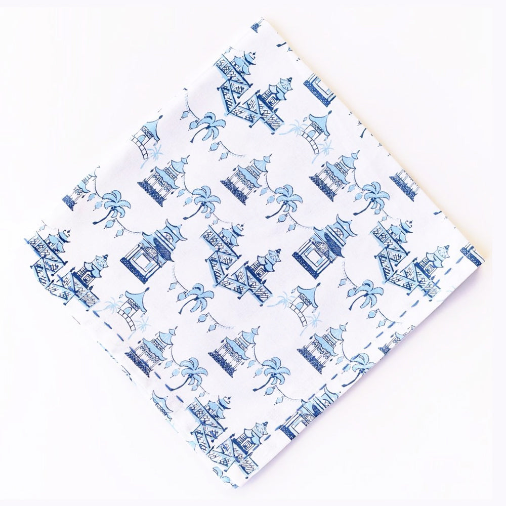 Pagoda Blue Napkins (Set of 4)