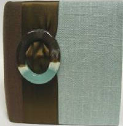 Blue & Brown Swirl Linen Album