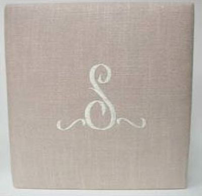 Single Initial Blush Linen Album