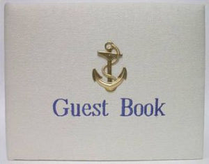 Bone Linen Anchor Guest Book