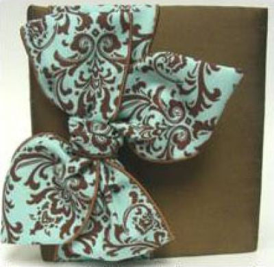 Brown Silk & Blue Damask Album
