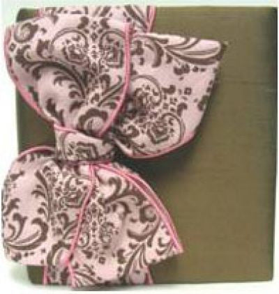 Brown Silk & Pink Damask Album
