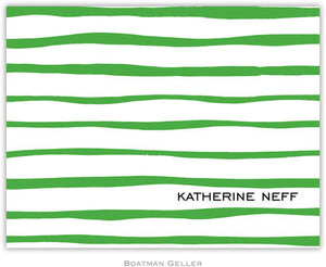 Brush Stripe Kelly Foldover Note