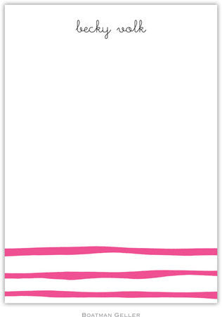 Brush Stripe Raspberry Flat Notecard