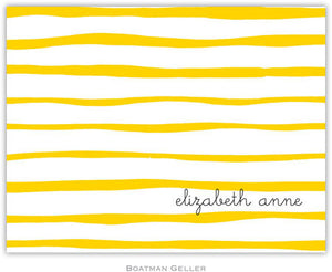 Brush Stripe Yellow Foldover Note