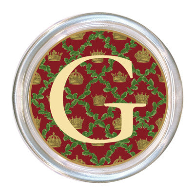 Monogrammed Christmas Holly Coaster