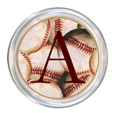 Monogrammed Antique Baseball Coaster