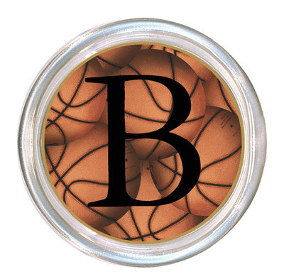 Monogrammed Antique Basketball Coaster