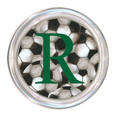Monogrammed Antique Soccer Coaster