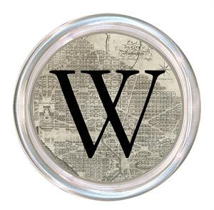 Monogrammed Antique Washington DC Map Coaster