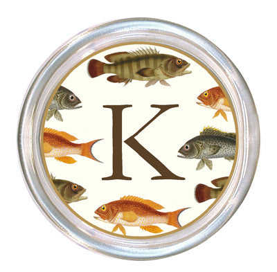 Monogrammed Big Fish Coaster