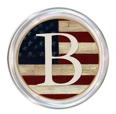 Monogrammed Antique Flag Coaster