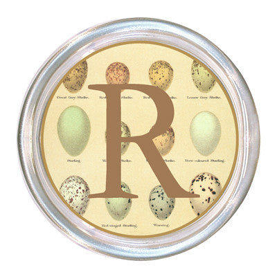 Monogrammed Pale Eggs Coaster