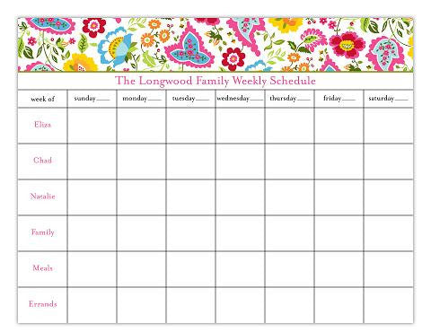 Bright Floral Calendar Pads