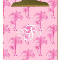 Personalized Pink Palms Clipboard