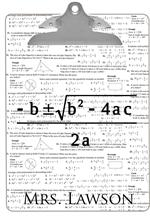 Quadratic Equation Algebra Teacher Clipboard