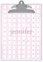 Pink Wavy Stars & Stripes Clipboard