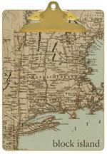 Antique Northeast Map Clipboard