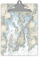 Newport Nautical Chart Clipboard