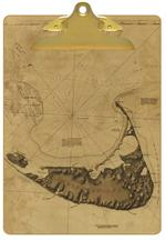 Antique Nantucket Map Clipboard