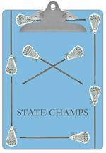 Lacrosse Sticks Clipboard