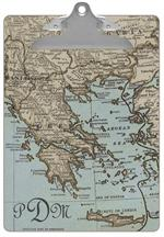 Greece Antique Map Clipboard