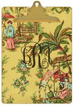 Yellow Chinoiserie Clipboard