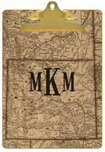 Wyoming Antique Map Clipboard