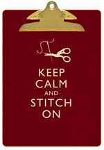 Keep Calm & Stitch On Clipboard