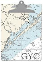 Galveston Texas Nautical Chart Clipboard