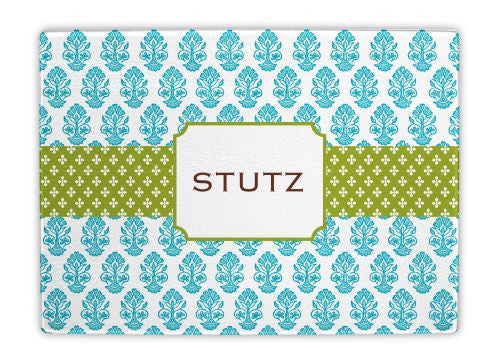 Betti Teal Glass Cutting Board