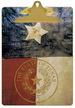 Texas Flag with Seal Clipboard
