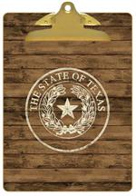 Shiplap Texas Seal Monogram Clipboard