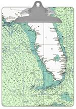 Florida Nautical Chart Clipboard