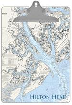 Hilton Head, SC Nautical Chart Clipboard