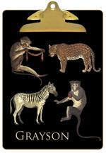 Leopard Zebra & Monkeys Clipboard