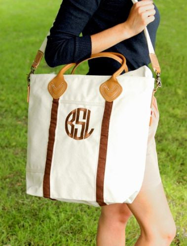Personalized Brown Flight Bag