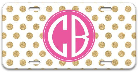Personalized Glam Dots License Plate